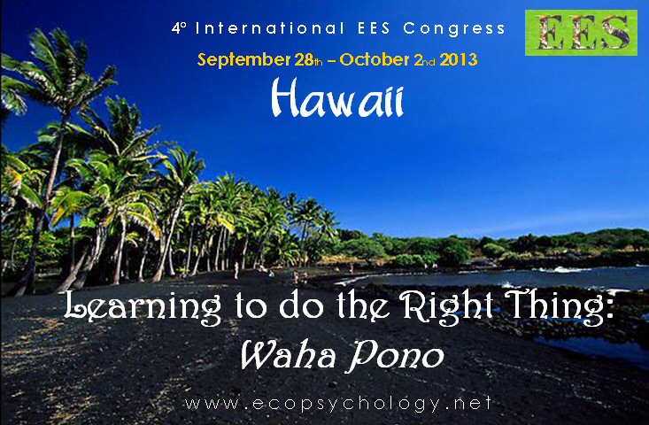 EES 2013 - Hawaii - Learning to do the right thing: Waha Pono